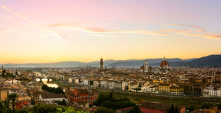 Firenze summer sunset Royalty Free Stock Images