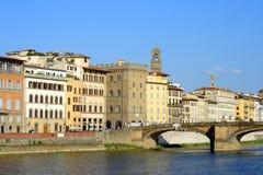Firenze, vista sul fiume del Arno Fotografia Stock Libera da Diritti