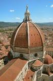 Firenze Vista superiore della città I Di Santa Maria del Fiore della basilica Immagini Stock Libere da Diritti