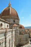 Firenze Vista superiore della città I Di Santa Maria del Fiore della basilica Immagine Stock
