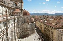 Firenze Vista superiore della città I Di Santa Maria del Fiore della basilica Fotografie Stock Libere da Diritti