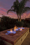 Firepit, Backyard, Luxury Living royalty free stock photos