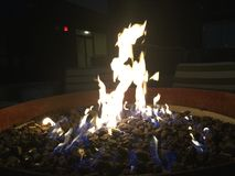 Firepit på hotellet Royaltyfri Bild
