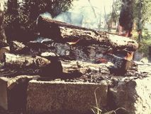 Firepit selbst gemacht Stockfoto