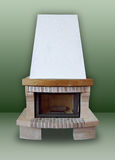 Fireplace of brick Stock Photos
