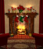 Fireplace_01 Royalty-vrije Stock Afbeelding