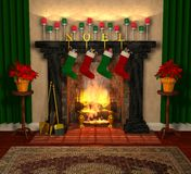 Fireplace_02 royalty free illustration