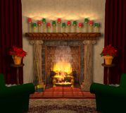 Fireplace_03 Stock Photography