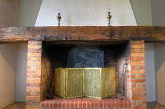 Fireplace. An outbreak of fire without fire Stock Photo