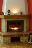 Fireplace. In which wood burns Royalty Free Stock Photography