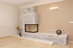 Fireplace. Home fireplace new non used Royalty Free Stock Photos