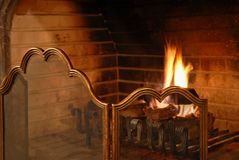 Fireplace Royalty Free Stock Image