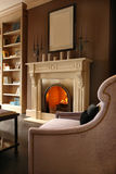 Fireplace. In the living room Royalty Free Stock Photos