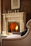 Fireplace. In the living room Stock Image