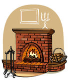 Fireplace Royalty Free Stock Photo