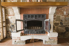 Fireplace. Stock Photography