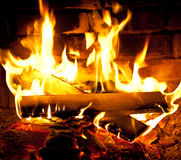 Fireplace. Stock Images