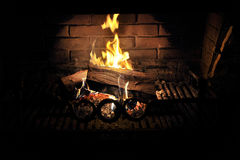 The fireplace Stock Image