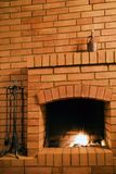 Fireplace. Detail of home interior Stock Photo