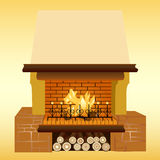 Fireplace. Illustration of a fireplace. For further use in your design Royalty Free Stock Image