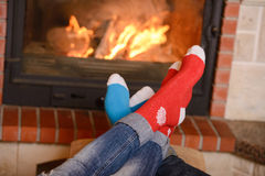 fireplace Royalty-vrije Stock Foto