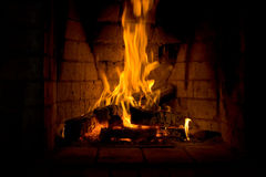 Fireplace. Can be a beautifull background for many ideas Royalty Free Stock Photo