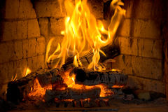 Fireplace. With a bricks can be a very good background for many ideas Royalty Free Stock Image