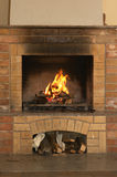 Fireplace. In home Stock Photos