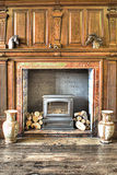 fireplace Stock Afbeelding