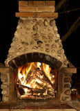 Fireplace. A outside fire place in autumn stock images