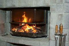 Free Fireplace Royalty Free Stock Photography - 8305367