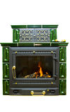 Fireplace. Isolated on the white background Royalty Free Stock Images