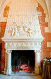 Fireplace in Amboise castle, France Stock Photo