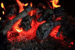 Fireplace background (fire texture) Royalty Free Stock Image