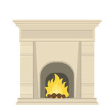 Fireplace in the Baroque Stock Photos