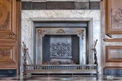 Fireplace with burning coal Royalty Free Stock Photos