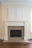 Fireplace with cabinet Royalty Free Stock Image