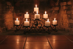 Fireplace Candles Stock Photography