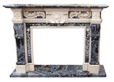 The fireplace carved stone material craft Stock Photography