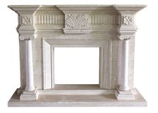 The fireplace carved stone material craft Royalty Free Stock Photos