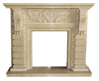 The fireplace carved stone material craft Royalty Free Stock Photography