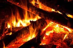 Fireplace close-up Royalty Free Stock Photos