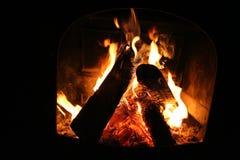 Fireplace Close-up Royalty Free Stock Photo
