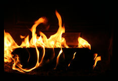 Fireplace Close-up stock photo