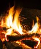 Fireplace. Close up image of fireplace and wood burning stock photos