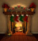 Fireplace_closeup Fotografia Stock Libera da Diritti
