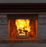 Fireplace closeup Royalty Free Stock Photos