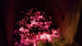 Fireplace coal stock photo