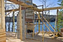 Fireplace Construction stock photos