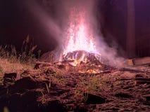 fireplace de Heksensabbat stock foto